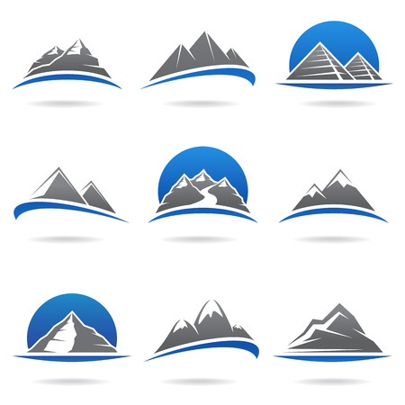 Illustration pour Mountains set  Vector  - image libre de droit