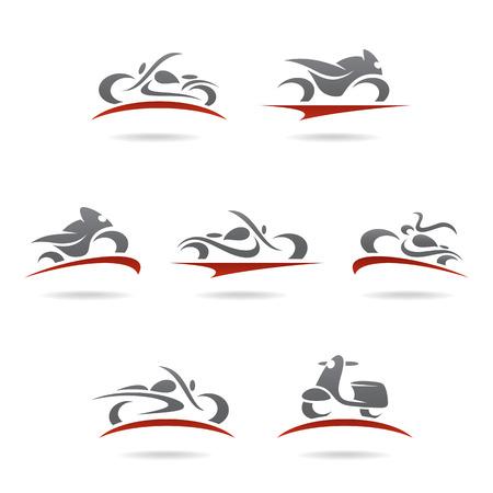 Illustration pour Motorcycles set  Vector  - image libre de droit