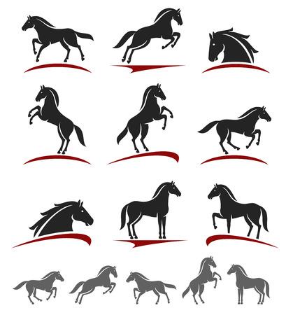 Illustration pour Horse set.  - image libre de droit