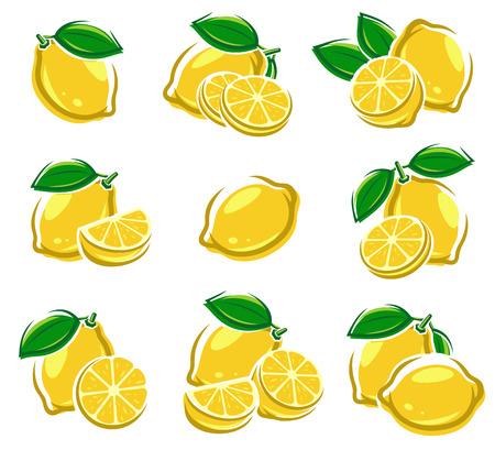 Ilustración de Lemon set. - Imagen libre de derechos