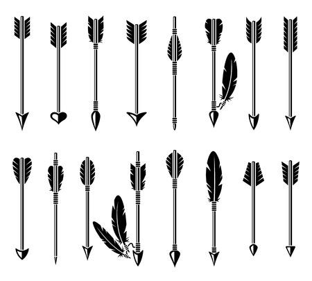 Ilustración de Bow arrow set.  - Imagen libre de derechos