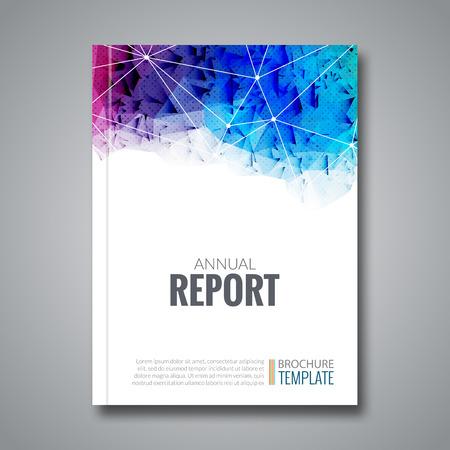 Ilustración de Cover Report Business Colorful Triangle Polygonal Geometric pattern Design Background - Imagen libre de derechos