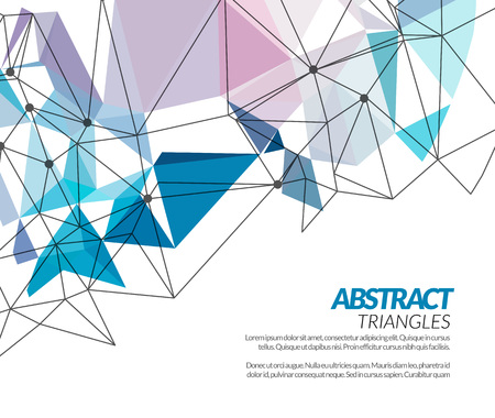 Illustration pour Vector polygonal triangle abstract shapes techno background - image libre de droit