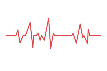 Ilustración de Heart line. Vector cardiogram health medical heartbeat pulse. - Imagen libre de derechos