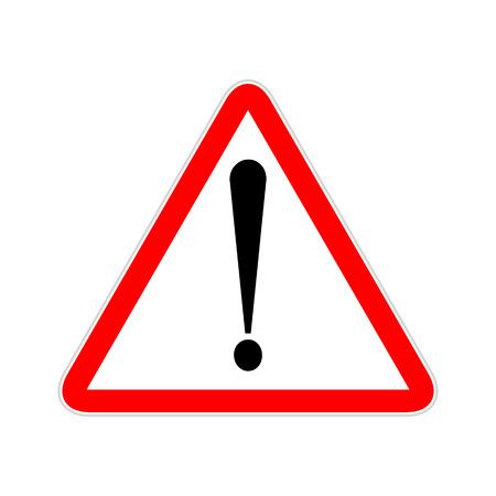 Ilustración de Attention sign symbol triangle. Caution icon exclamation. Alert road sign. - Imagen libre de derechos