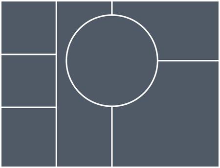 Ilustración de Montage collage photo frame template. Image picture background montage poster design. - Imagen libre de derechos