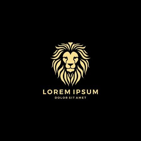 Ilustración de lion head logo template vector icon - Imagen libre de derechos