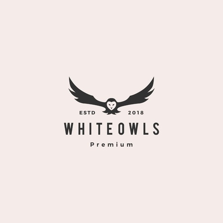Illustration pour white owl logo vector icon illustration - image libre de droit