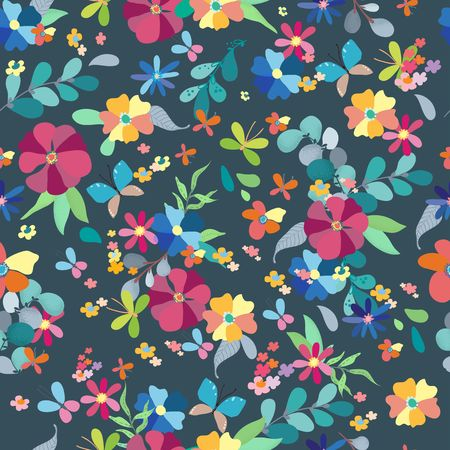 Illustration for Seamless floral pattern, spring or summer decoration for beautiful design - Royalty Free Image