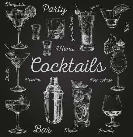 Ilustración de Set of sketch cocktails and alcohol drinks vector hand drawn illustration Set of sketch cocktails and alcohol drinks vector hand drawn illustration - Imagen libre de derechos