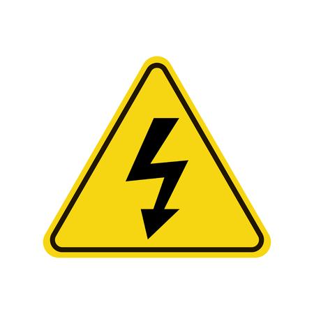 Illustration pour High voltage icon warning sign. - image libre de droit
