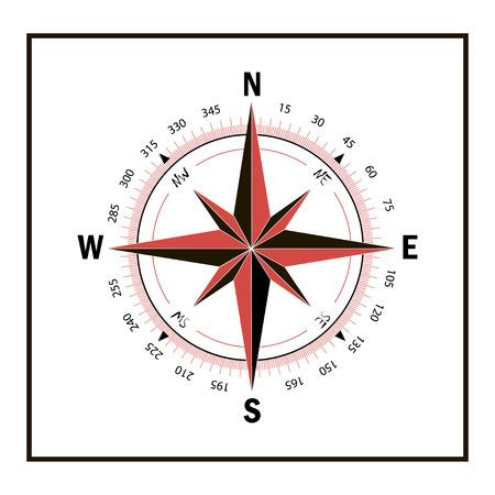 Ilustración de Compass icon. - Imagen libre de derechos