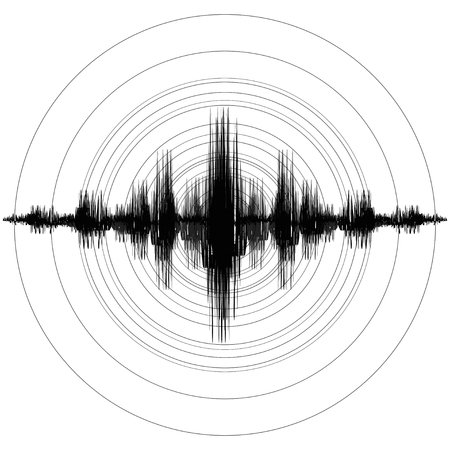 Ilustración de Earthquake. Richter Earthquake Magnitude Scale. Vector illustration - Imagen libre de derechos