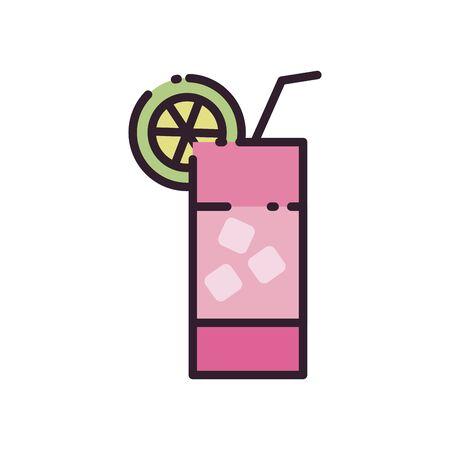 Illustration pour Cocktail fill style icon design, Alcohol drink bar beverage liquid menu surprise restaurant and celebration theme Vector illustration - image libre de droit