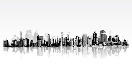 Foto de illustration of architectural building in panaromic view - Imagen libre de derechos