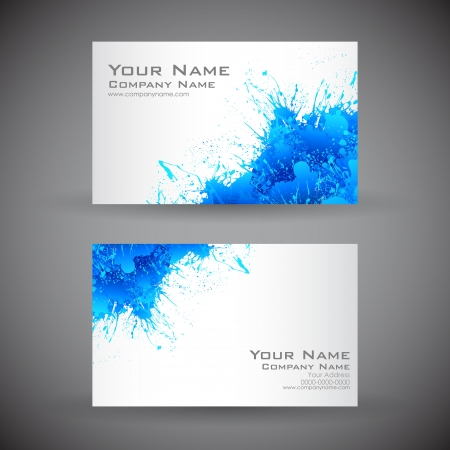 Illustration pour illustration of front and back of corporate business card - image libre de droit