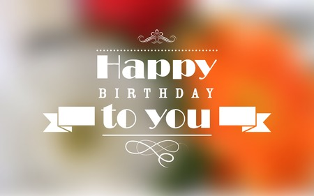 Illustration for illustration of Happy Birthday Typography background - Royalty Free Image