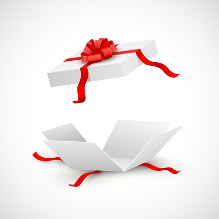Illustration pour illustration of open gift box surprise - image libre de droit