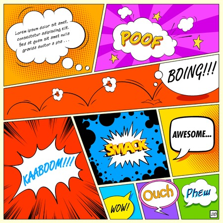 Illustration for illustration of colorful comic speech bubble in vector - Royalty Free Image