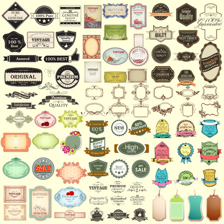 Illustration pour illustration of vintage selling badge for premium quality jumbo collection - image libre de droit