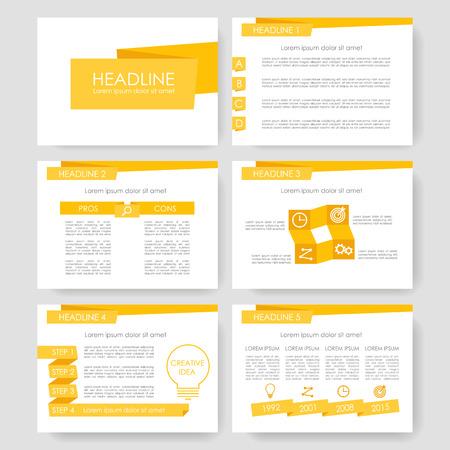 Illustration pour Set of color infographic elements for presentation templates. Leaflet, Annual report, book cover design. Brochure, layout, layout template design. Easy to edit. - image libre de droit