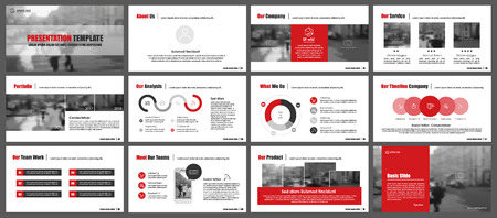 Illustration pour Elements for infographics and presentation templates. - image libre de droit