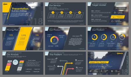 Illustration pour Elements for and presentation templates. - image libre de droit