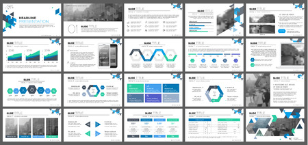 Illustration pour Elements for presentation templates. - image libre de droit