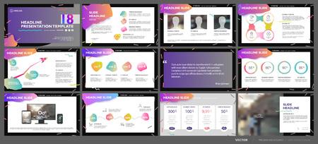 Illustration pour Business presentation template set. - image libre de droit