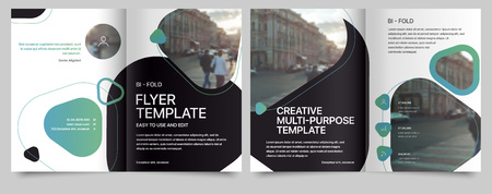 Ilustración de Poster flyer pamphlet brochure, portfolio, cover design annual report, vector template, leaflet, magazine a4 size. Minimalistic design background - Imagen libre de derechos