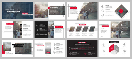 Photo pour Presentation templates. Vector infographics. Use in Presentation, flyer and leaflet - image libre de droit