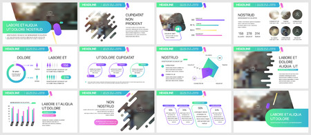 Ilustración de Elements for infographics on a white background. Presentation templates. - Imagen libre de derechos