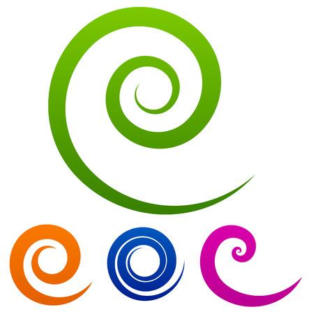 Ilustración de Colorful spiral set - Imagen libre de derechos