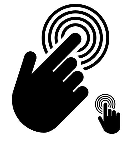 Illustration pour Touch or touchscreen symbol - image libre de droit