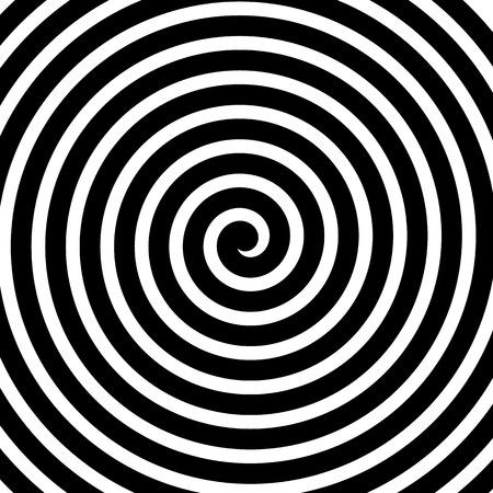 Ilustración de Volute, spiral, concentric lines, circular motion, rotating background - Imagen libre de derechos