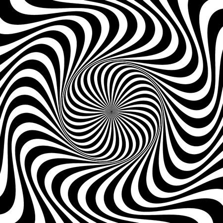 Ilustración de Swirling background. Abstract shapes forming vortex phenomenon. - Imagen libre de derechos