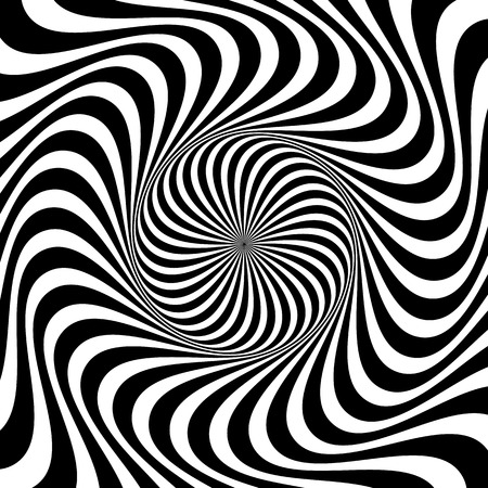 Illustration pour Swirling background. Abstract shapes forming vortex phenomenon. - image libre de droit