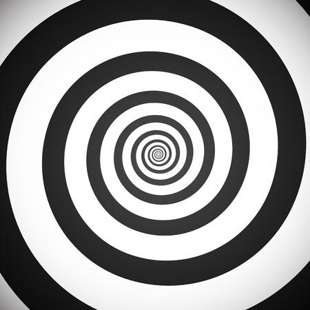Ilustración de Vector illustration of a greyscale hypnotic spiral background. Eps 10. - Imagen libre de derechos