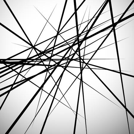 Ilustración de Random lines abstract background. Modern, minimal (contemporary) art like graphics - Imagen libre de derechos