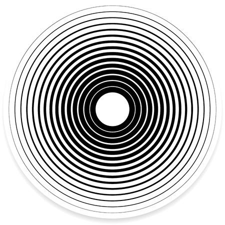 Illustration pour Concentric Circle Elements / Backgrounds. Abstract circle pattern. - image libre de droit