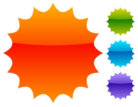 Illustration for Empty badge, price flash. Vector illustration. - Royalty Free Image