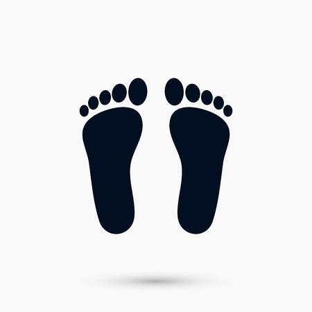 Ilustración de A foot vector icon, flat design best vector icon - Imagen libre de derechos
