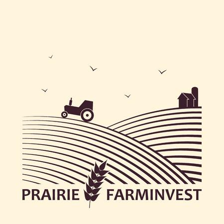 Illustration pour Vector logo concept  for farm investment business. - image libre de droit