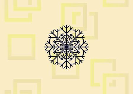 Illustration pour Snowflake  icon vector illustration. - image libre de droit
