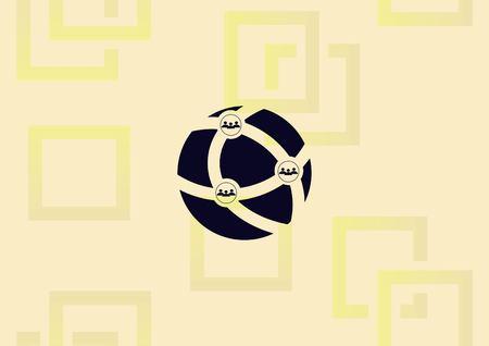 Illustration pour Holding globe, social network icon vector illustration. - image libre de droit