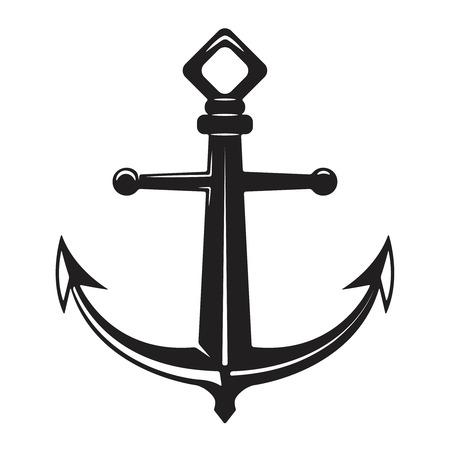 Illustration pour Vintage anchor illustration isolated on white background. Vector illustration - image libre de droit