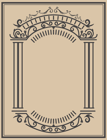 Illustration pour Vintage frame  on light background. Vector design element - image libre de droit