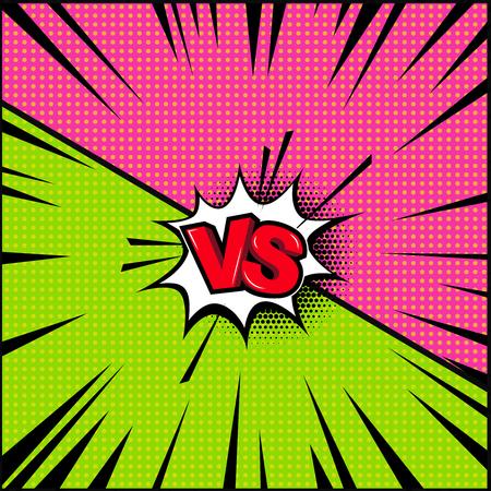 Ilustración de Empty comic book style background, Versus illustration. Design element for banner, poster. - Imagen libre de derechos