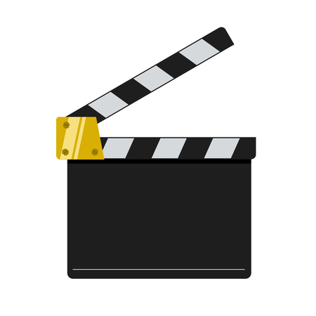 Ilustración de Cinema clapper illustration isolated on white background. - Imagen libre de derechos