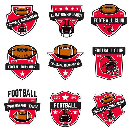 Illustrazione per Set of american football emblems - Immagini Royalty Free